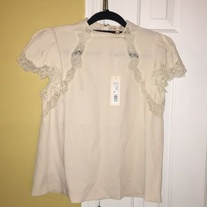 Stunning New Rebecca Taylor Creepe Lace Top